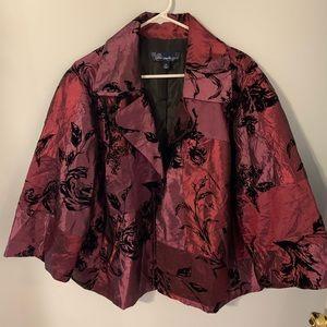 Susan Graver styles plum dress jacket size 2x EUC